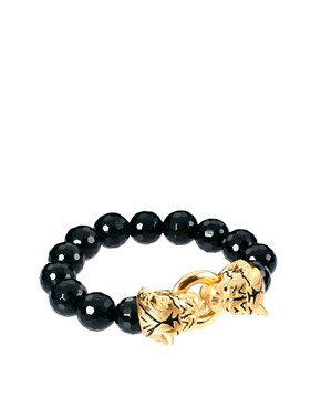 Image 1 ofBill Skinner Tiger And Black Agate Stretch Bracelet