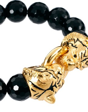Image 4 ofBill Skinner Tiger And Black Agate Stretch Bracelet