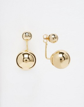 ASOS Metallic Bead Swing Earrings