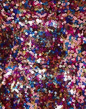 Image 3 ofASOS CURVE Sweetheart Peplum In Multi Sequins