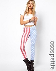 ASOS PETITE Exclusive Leggings In USA Flag Stars And Stripes