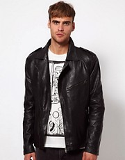 Chaqueta biker de cuero de River Island