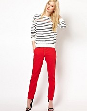 BA&amp;SH Relaxed Pants with Zip Detail
