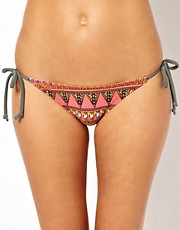 Warehouse Tribal Placement String Bikini Bottom