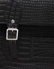 "The Cambridge Satchel Company 15"" Leather Mock Croc Satchel"