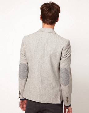 Image 2 of ASOS Slim Fit Blazer In Tweed