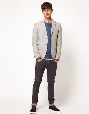 Image 4 of ASOS Slim Fit Blazer In Tweed