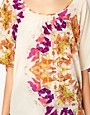 Image 3 of Warehouse Circle Butterfly Print Tunic In Silk