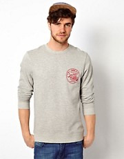ASOS Sweatshirt With Badge And Back Print