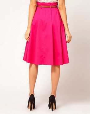 Image 2 ofASOS Belted Full Midi Skirt