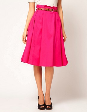 Image 4 ofASOS Belted Full Midi Skirt
