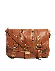 New Look Shelley Stud Zip Satchel
