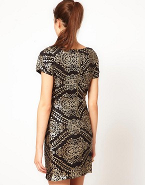 Image 2 ofVero Moda Baroque Sequin Embellished Mini Dress