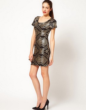 Image 4 ofVero Moda Baroque Sequin Embellished Mini Dress