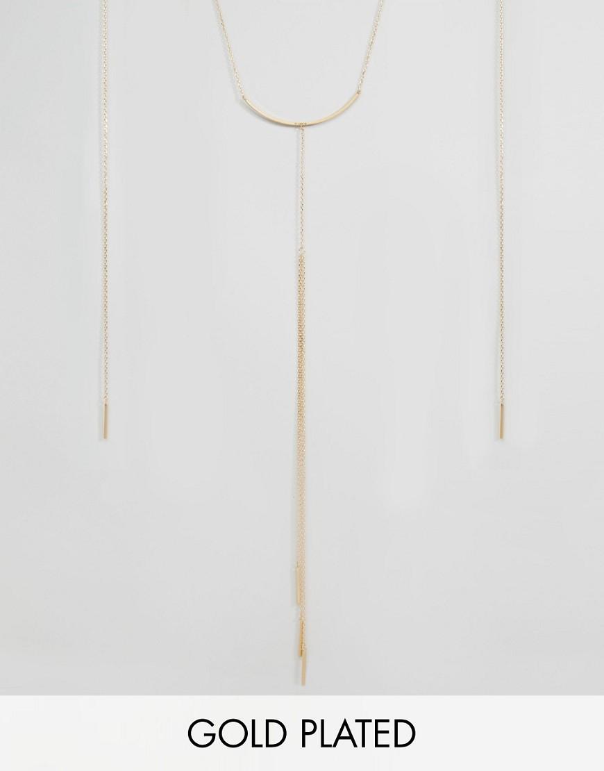 Позолоченное ожерелье с подвеской Pilgrim - Золотой