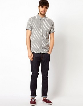 Image 4 ofASOS Chambray Shirt With Polka Dots