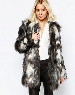 Selected Selvia Faux Fur Jacket