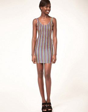 Image 4 ofAmerican Apparel Nylon Stripe Mini Dress