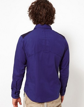 Image 2 ofG Star Shirt Aero Courier Contrast Oversized Pocket