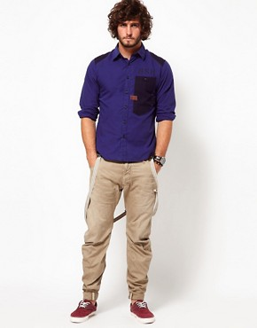 Image 4 ofG Star Shirt Aero Courier Contrast Oversized Pocket