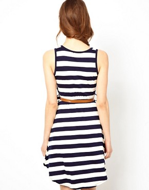 Image 2 ofWal G Twisted Stripe Dress
