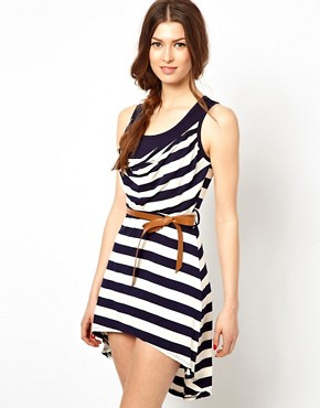 Image 1 of Wal G Twisted Stripe Dress
