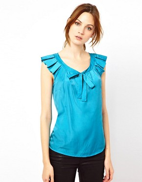 Image 1 ofWarehouse Pleat Sleeve Top