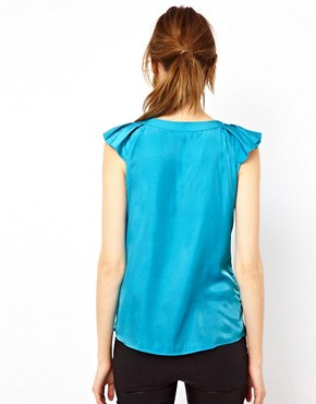 Image 2 ofWarehouse Pleat Sleeve Top