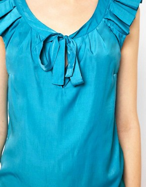 Image 3 ofWarehouse Pleat Sleeve Top
