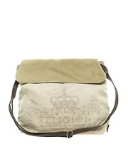 Religion Washed Canvas Shoulder Bag