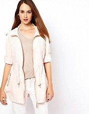 Parka con cremallera y capucha de Ted Baker