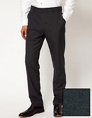 ASOS Slim Fit Smart Pants in Charcoal