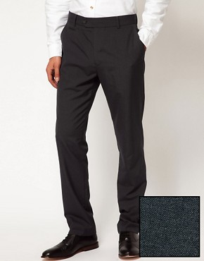 Image 1 ofASOS Slim Fit Smart Trousers in Charcoal