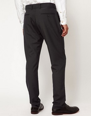 Image 2 ofASOS Slim Fit Smart Trousers in Charcoal