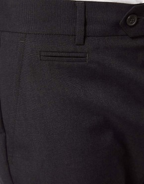 Image 3 ofASOS Slim Fit Smart Trousers in Charcoal