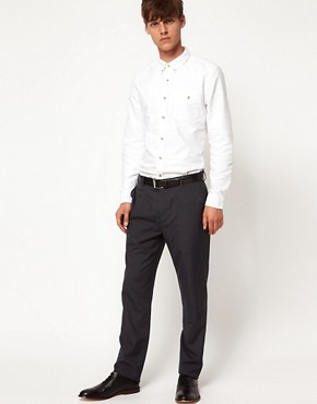 Image 4 ofASOS Slim Fit Smart Trousers in Charcoal