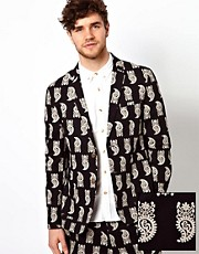 ASOS Slim Fit Blazer in Paisley