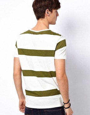 Image 2 ofASOS Stripe T-Shirt With Oxford Pocket