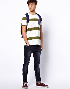 Image 4 ofASOS Stripe T-Shirt With Oxford Pocket