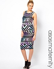 ASOS Maternity Aztec Print Midi Dress