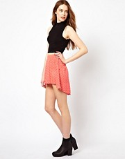 Wal G Polka Dot Skirt