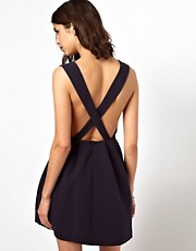 BA&amp;SH Cross Back Pinafore Dress
