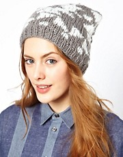 Warehouse Aztec Sparkle Bobble Beanie