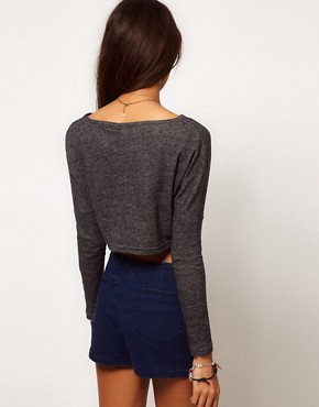 Image 2 ofASOS Crop Top in Reverse Stripe