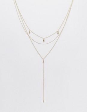 ASOS Lariat Multirow Necklace