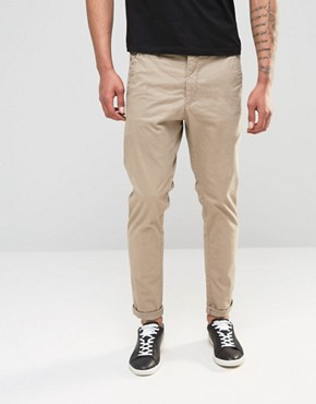 Dr Denim Relaxed Tapered Rusty Chino Khaki