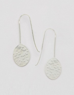Made Oval Drop Earrings