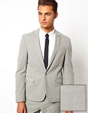 ASOS Skinny Fit Suit Jacket in Grey