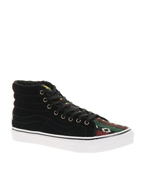 Image 1 ofVans SK8-Hi Slim Black High Top Trainers