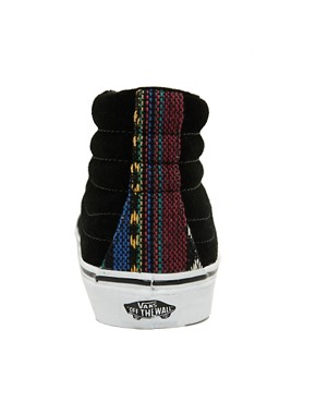 Image 2 ofVans SK8-Hi Slim Black High Top Trainers